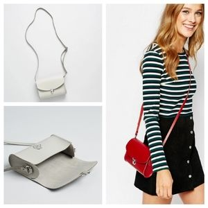 ASOS | Cambridge Satchel Co Gray Push Lock Bag